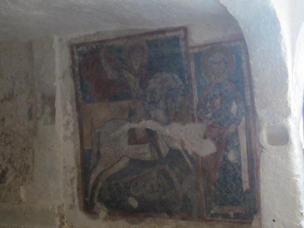 San Marzano di San Giuseppe - Santuario della Madonna delle Grazie - Affresco della grotta ipogea